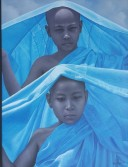 Two novices in blue